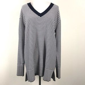 Tommy Hilfiger V Neck Tunic Sweater Nautical L